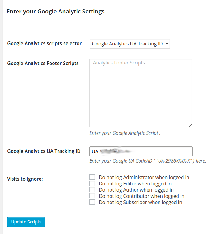 Google Analytics WordPress Plugin настройка